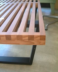 Platform bench ■ walnut color