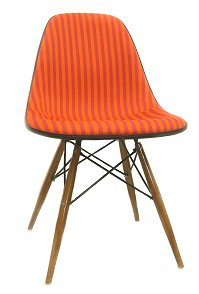 Eames Herman Miller side shell-Chair Gillard to strip-red scoops-custom EAMES herman millerSideshell