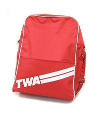 TWA airline shoulder bag