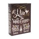 キーストーン サインアート ブックボックス L 不思議の国のアリス SIBOBOLF アンティークな雰囲気のブックボックス。