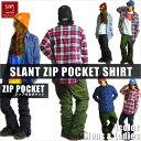 BANPS シャツ 2016-17 SLANT POCKET SHIRT スラントポケットシャツ ジップポケット スノーボード ウェア スノボ スキー メンズ ...