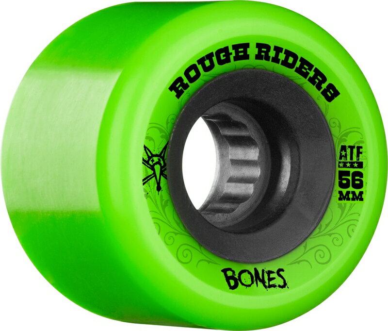BONES WHEELS ボーンズウィール/BONES ATF ROUGH RIDERS GREEN/スケートウィール/国内正規品!!サイズ:56mm 80a(SKATE BOARD)(スケートボード)(SCREW TOKYO)