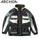 アルコン ブルゾン ARCHON COLOR PATTERN BLOUSON カラーブロッキングブルゾン ナイロンジャケット メンズ 8020-11102 ブラック【2020春夏】