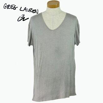 伯克利葛列格勞倫 V 脖子 T 襯衫男裝男裝短袖子縫平原 T 襯衫襯衫 v 領 T 灰色灰色 grunge 復古