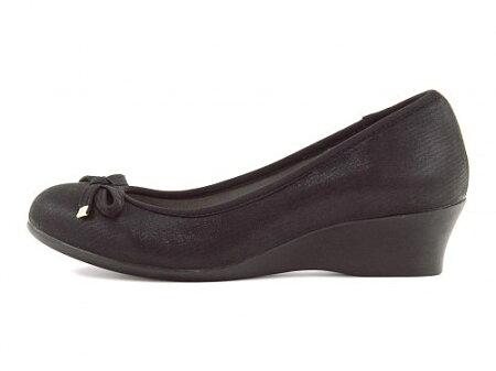 ベネトンオールデイウォークパンプス痛くないウェッジソールローヒール歩きやすい疲れないウォーキングシューズスニーカーレディースオフィスフォーマルトラベルコンフォート美脚リボン付き限定モデルBENETTONALLDAYWalk386ブラック