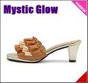 フリル ミュール サンダル 歩きやすい 疲れない レディース クッション性 美脚 カジュアル デイリー トレンド ミスティックグロウ Mystic Glow 205700 オレンジ
