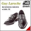 ビジネスシューズ メンズ ビットローファー ロングノーズ 3E 幅広 ギラロッシュ Guy Laroche 1332 ブラック