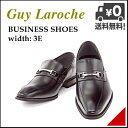 ビジネスシューズ メンズ ビットローファー 3E 幅広 ロングノーズ 冠婚葬祭 オフィス 就職活動 ギラロッシュ Guy Laroche 1332 ブラック
