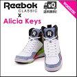 リーボック アリシアキーズ コート ハイカット スニーカー レディース コラボ 限定 Alicia Keys COURT Reebok V60903 ホワイト/ブラック/パンチピンク/チャージドグリーン/スチール