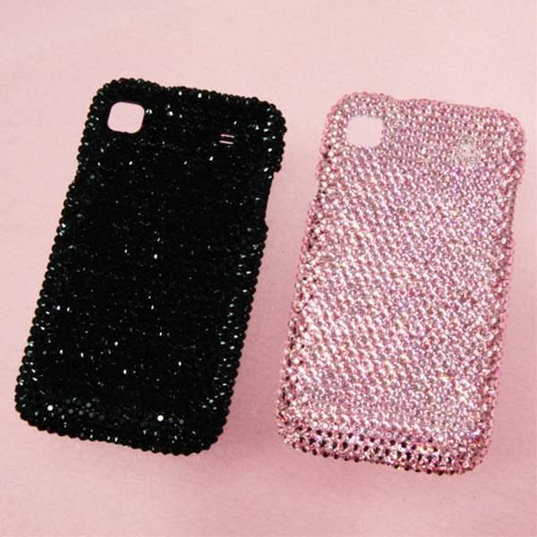 docomo Galaxy sケース スワロフスキーカバー ブラック・ピンクの2色から選べます! (全貼り ss12ベース) 送料無料クリスタルガラス最高峰の輝きを貴女に【携帯電話ケース・携帯アクセサリー専門店】