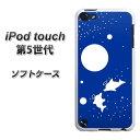 iPod touch(第5世代) TPU ソフトケース / やわらかカバー【VA843 星空のイルカ 素材ホワイト】 UV印刷 シリコンケースより堅く、軟性のあるTPU素材(アイポッドタッチ/IPODTOUCH5/スマホケース)
