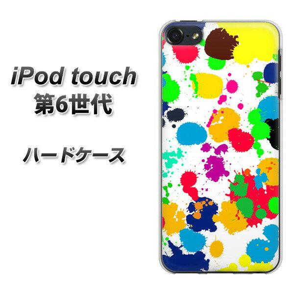 iPod touch 6 第6世代 ハードケース / カバー【1329 ペイントドット ランダム 素材クリア】 UV印刷 ★高解像度版(iPod touch6/IPODTOUCH6/スマホケース)