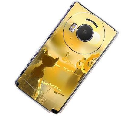 LUMIX Phone P-02Dケース (docomoスマホケース カバー) 【400 たそがれの猫(クリアケース)】(P—02D用)★高解像度版【デザイン・柄が豊富なスマホ専門店】