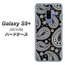 au Galaxy S9+ SCV39 ハードケース カバー 【421 ペイズリー 素材クリア】