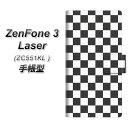ZenFone3 Laser ZC551KL 手帳型スマホケース【151 フラッグチェック】(ゼンフォン3レーザー ZC551KL/ZC551KL/スマホケース/手帳式)