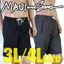 【あす楽】(パケット便送料無料)MAUI&SONS メンズ・無地ワンポイント 大きいサイズ サーフパンツ(紳士水着)0201-660