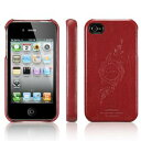 [SGP] レザーケースジェニュイン leather grip [Infinity red] for iPhone4/4S