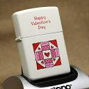 ショッピングライター 1999年製Zippo ホワイトマット/ Happy Valentine's Day