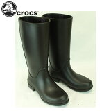 クロックス crocs レインブーツ wellie rain boot #12476 : Black/Mulberry