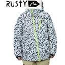 15 ラスティ RUSTY JACKET #984300 : WHT スノーボードウェア ジャケット 982-306 【cat-snow】【メンズ】ラスティー【P08Apr16】