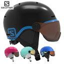 21-22 子供用 SALOMON ヘルメット GROM VISOR : 正規品/サロモン/スキー/スノーボード/ジュニア/キッズ/snow