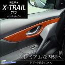 【只今ポイント3倍!】 エクストレイル T32 ドアベゼルパネル / 内装 パーツ インテリアパネル