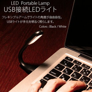 LED ライト USB ケーブル フレキシブルアーム 照明 モバイルバッテリー シガーソケット パソコン シリコン