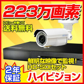 防犯カメラセット防犯カメラ監視カメラセットHD-SDIメガピクセル【レビューを書いて送料無料】録画2TB防犯カメラセット高画質DVRiPadiPhoneアンドロイド携帯監視防犯カメラ4ch