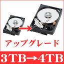 単体購入不可【アップグレード】【3TBのハードディスク付属商品対象】ハードディスク3TB→4TBへ変更 secuOn