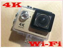 4Kなのにこの値段!okadaspecial4Kウェアラブルカメラ アクションカメラ 4KWiFi機能防水ケース&マウント付属4Kカメラドライブレコーダー全天候型バイク用ドライブレコーダー