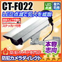 ダミーカメラ ランプ点灯 防犯カメラ ダミー CT-F022 LED点滅 ダミーカメラ