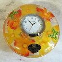 母の日のプレゼントにドイツ製【置き時計】ドリームライトマリソル 優しいオレンジとイエローのお花を集めましたアクリルスタンド付