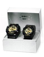【数量限定】【ペア】【お買い得品】【国内正規品】【即納】G-ShockG-ショックBaby-Gベビ−ジ−BlackxGoldSeriesブラックxゴールドシリーズGA-110GB-1AJF、BA-110-1AJF