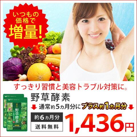 【お値段そのまま増量】野草酵素 約6ヵ月分 5P