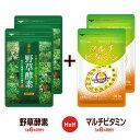 【ハーフ&ハーフ】〓★野草酵素★マルチビタミン〓《各約6ヵ月...