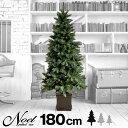 クリスマスポットツリー ノエル Noel ヌードタイプ ツリー ヌードツリー 180cm 樅 木製ポット付き クリスマスツリー ポット型  ◆