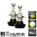 ハイエース HIACE 200系 100系 対応 Philips LEDヘッドライト 6500k 8000LM H4 Hi/Low ハイエース 1型 2型 3型 4型 新基準車検対応 フリーアングル 高効率 led ヘッドライト カットライン調整 1年保証 HIACE フィリップス