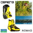OBRIEN オブライエン ウェイクブーツ NOMAD 4-6 22-24cm 黄色 イエロー ブラック 黒 | ウェイクボード ビンディング ブーツ シューズ レディース 女性 波 海 マリンスポーツ 用品 グッズ かっこいい