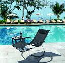 ▲折り畳みできるリング型 ロッキングチェア ブラック 商品番号:ring-chair 【ユニマッ