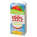 【送料無料】100%ジュース アップル1L 6本入セイコーマート セコマ せいこーまーと せこま 1000ml 1l 6本入 紙パック 青森県産 りんご アップル 果汁100%