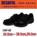 丈夫でソフトな履き心地のウレタン2層底安全作業靴(マジックタイプ)【DSF-02 ドンケル】