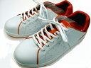 """スニーカータイプ安全靴(ホワイト×オレンジ)【804 バートル(クロカメ被服)】ユニークな""""カカト""""で、人気のある商品です"""