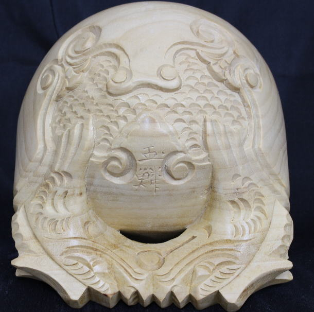 仏具 木魚 本楠上彫 5.0寸の商品画像