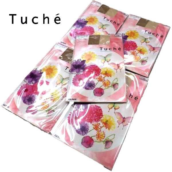 パンスト まとめ買い 日本製 グンゼ Tuche パンスト5足◆つま先切り替えなし。ソフトラメ糸でちくちく感を抑えました。TH570A TH570B TH570C