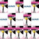 パンスト GUNZE グンゼ Tucheトゥシェ ムラになりにくいシアータイツ パンスト 40デニール 婦人 黒だけで10足組 日本製 THW98K
