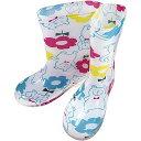 【中谷】【子供用】 キッズ レインブーツ 18cm 長靴 雨具 ポッカポッケ (白くま) ホワイト ホワイト