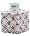 【梅山窯】砥部焼 花瓶 梅山窯 一輪挿し 小 赤宝つなぎ 約5×5×8cm (59468)