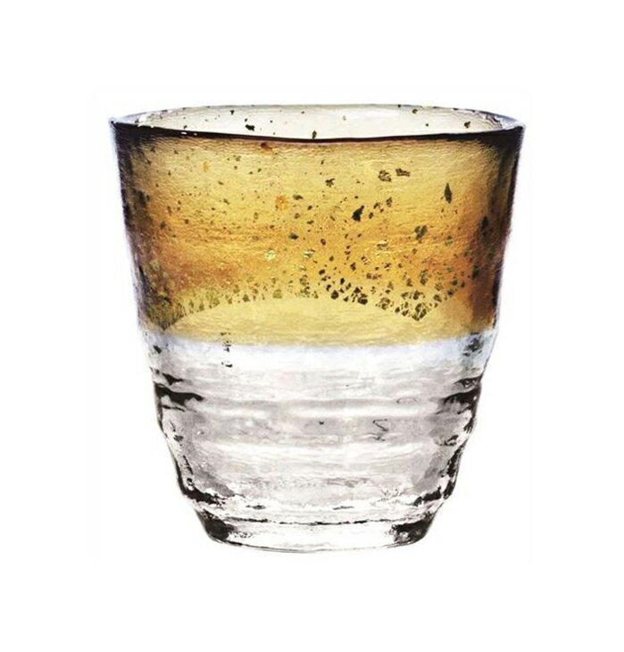 お取り寄せ可能東洋佐々木ガラス焼酎グラス和がらす温お湯わり焼酎ぐらすお湯割り金箔琥珀300ml421