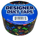 【JFL 2533 Puppy Prints Duct Tape 1.88 in X 10 yds (48 mm x 9.114 m) by JFL】 b00mr9lr2m