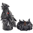 ������̵���ۡ�Magical Fire Breathing Dragon Head Incense Burner Holder for Scented Cones in Mythical Statues Sculptures As Gothic�� b00u66ioqu